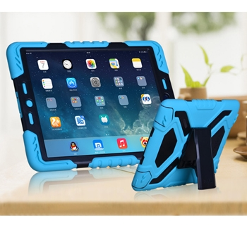 iPad Air 2 Heavy Duty Case, built-in plastic screen protector