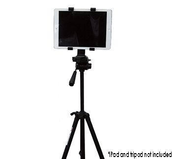 iPad Tripod Mount (tripod not included)