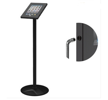 Anti-Theft Enclosure Floor Stand for iPad 2-4, Air, Air 2