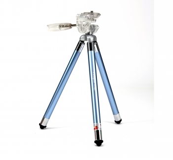 Compact Travel Tripod 8 Sections in Blue