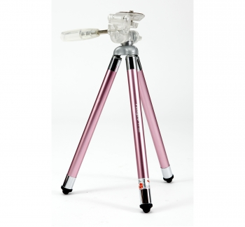 Compact Travel Tripod 8 Sections in Pink