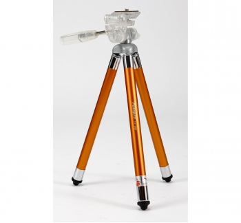 Compact Travel Tripod 8 Sections in Orange
