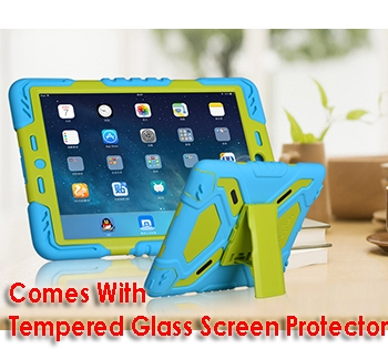 iPad Air 2 Tough Case and Glass Screen Protector Combo