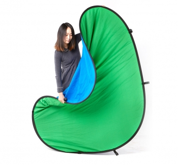 Pop Up Green Screen 1.5x2M (Green/Blue Double Sided)