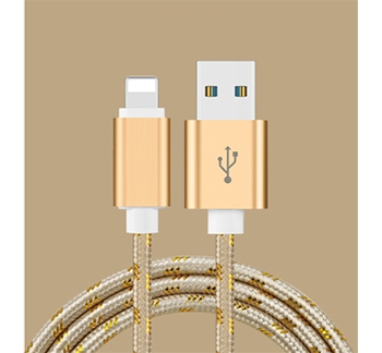 USB Charge/Sync Lightning Braided Cord, 1M - Non MFI