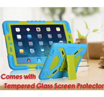 iPad 5th 6th Tough Case and Glass Screen Protector Combo
