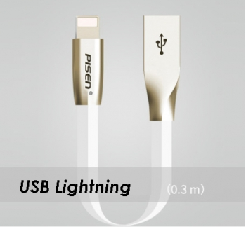 USB Lightning Alloy Connector Cable 30 CM