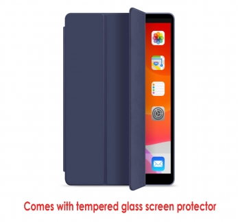 iPad 5-6 deluxe cover with tempered glass screen protector (10 units buy)