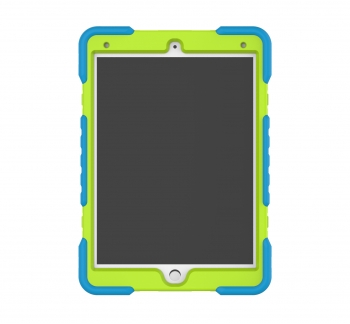 iPad 7-8 heavy duty case with ring style stand & glass protector